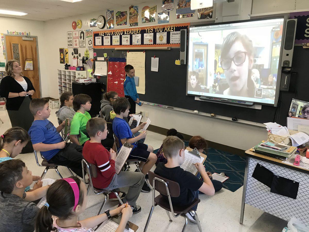 Students solve math puzzle via Google Hangout