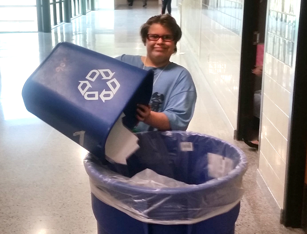 'Green Team' promoting recycling in middle school
