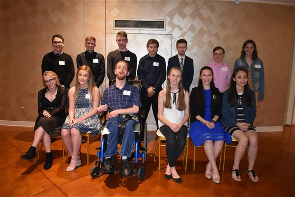 Student Achievement award-winning students pose