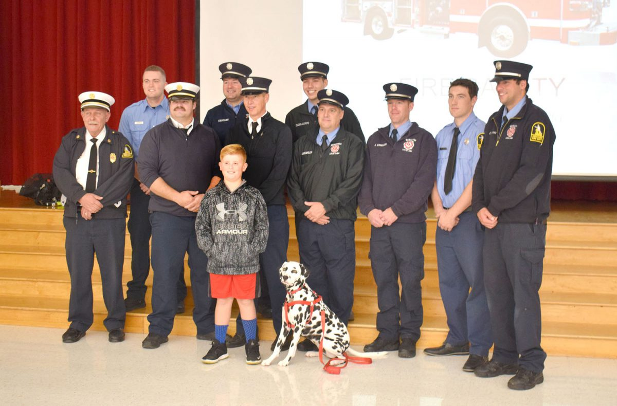 Student's donation marks Fire Prevention Week