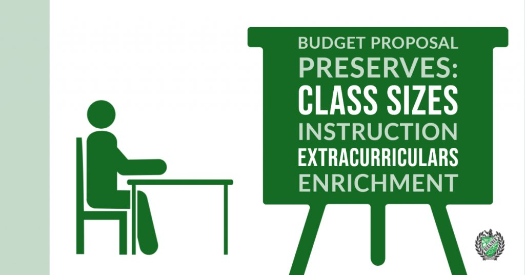 Budget proposal preserves: Class sizes, instruction, extracurriculars, enrichment