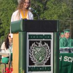 A speaker at the Class of 2021 graduation
